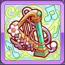 翆奏のハープブローチ